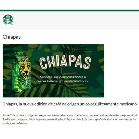 Ofertas de Starbucks, Chiapas