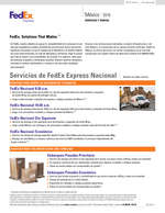 Ofertas de Fedex, Servicios y Tarifas 2016
