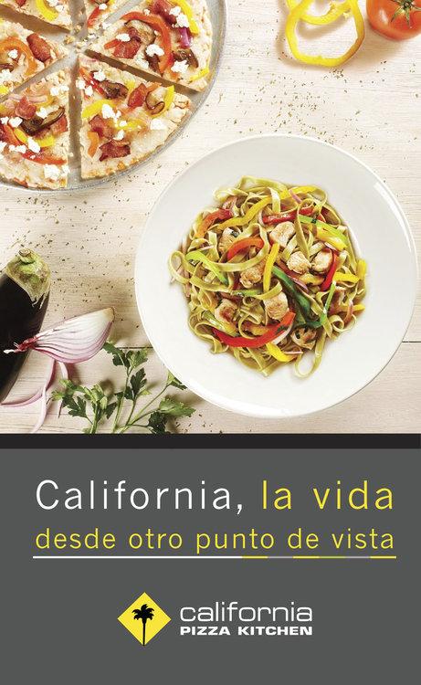 Ofertas de California Pizza Kitchen, Menú