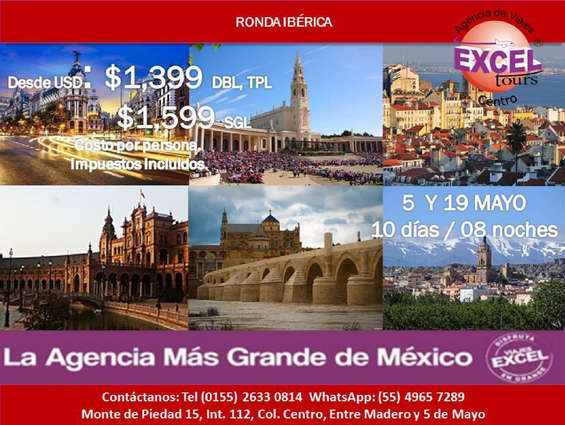 Ofertas de Excel Tours, Ronda Ibérica
