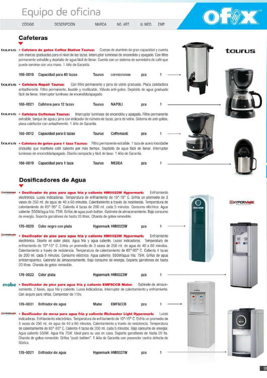 Ofertas de Ofix, Catálogo mensual