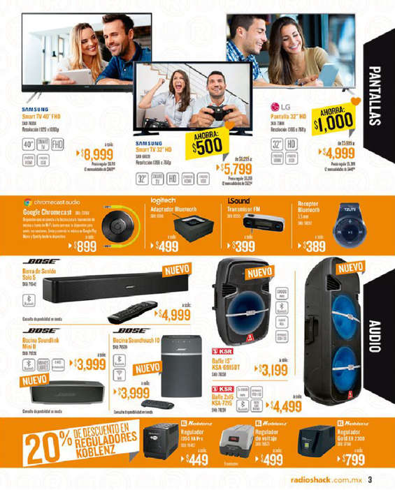 Ofertas de Radio Shack, Folleto mensual