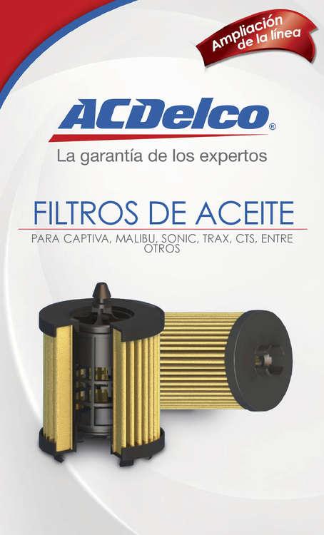 Ofertas de ACDelco, Lanzamientos - Filtros de Aceite
