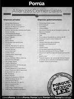 Ofertas de Librería Porrúa, promociones exclusivas para empleados de las siguientes empresas