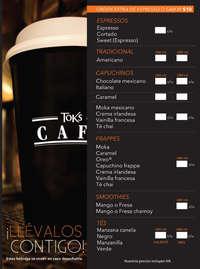 Menú Café