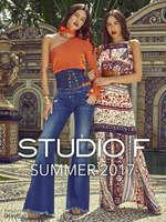 Ofertas de Studio F, Summer 2017