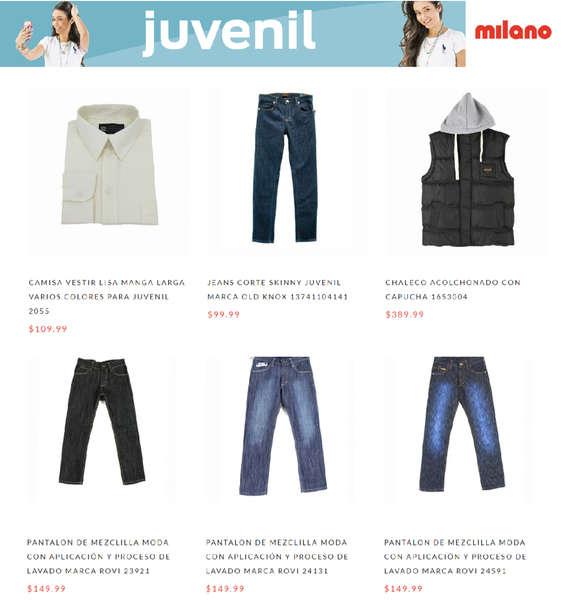 Ofertas de Milano, Juvenil