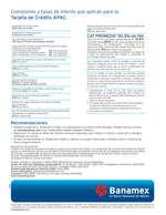 Ofertas de Banamex, Tarjeta APAC