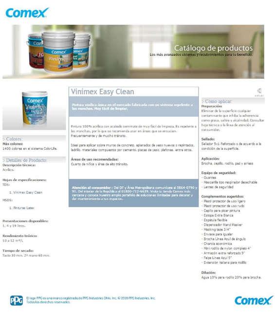 Ofertas de Comex, Catálogo Productos Comex