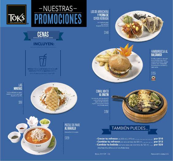Ofertas de Toks Restaurante, platillo del mes