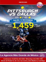 Ofertas de Excel Tours, Pittsburgh vs Dallas