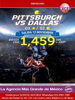 Ofertas de Excel Tours, Pittsburgh vs Dallas