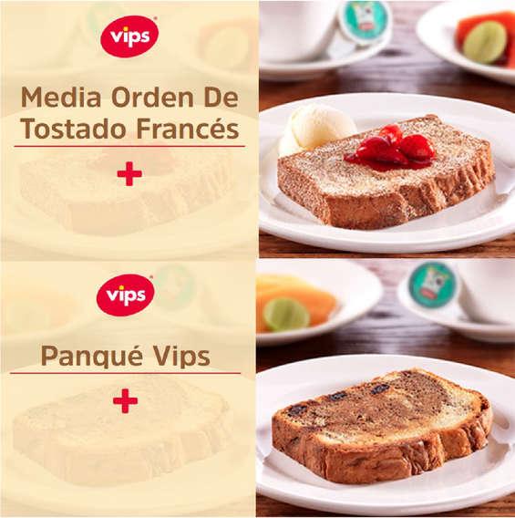Ofertas de Vips, Menú