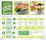 Ensaladas en juan aldama cat logos ofertas y tiendas for Lista de precios subway