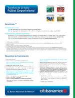 Ofertas de Citibanamex, Tarjetas de crédito fútbol deporteísmo