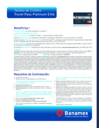 Tarjeta de crédito Travel Pass Platinum Elite
