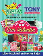 Ofertas de Tony Super Papelerías, Precios San Valentín