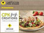 Ofertas de California Pizza Kitchen, cpk fresh creations