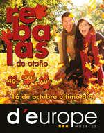 Ofertas de D'Europe, Rebajas de otoño
