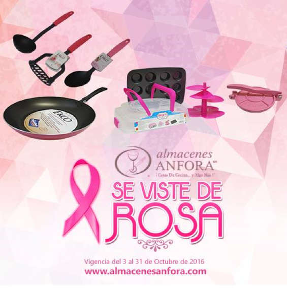 Ofertas de Almacenes Anfora, Almacenes Anfora se viste de rosa