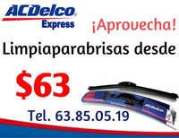 Promoción Limpiaparabrisas ACDelco