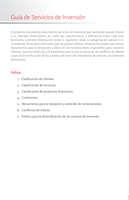 Ofertas de Santander, Guía de servicios de inversión