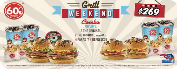Ofertas de Sixties Burger, Grill Weekend Combo