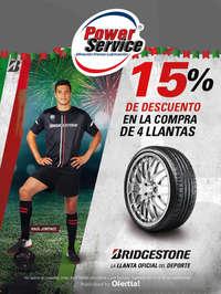 15% de descuento en Bridgestone