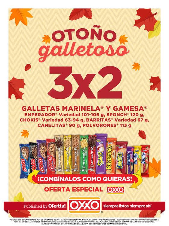 Ofertas de OXXO, Otoño Galletoso - NACIONAL