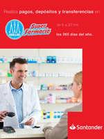 Ofertas de Santander, Pagos, depósitos y transferencias en Farmacias Guadalajara