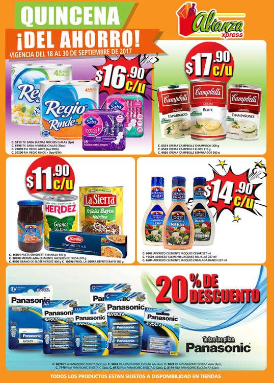Ofertas de Alianza Xpress, Quincena ¡Del Ahorro!