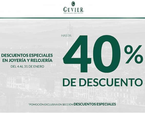 Ofertas de Guvier, 40% DE DESCUENTO