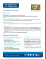 Ofertas de Citibanamex, Tarjeta de crédito Oro Citibanamex