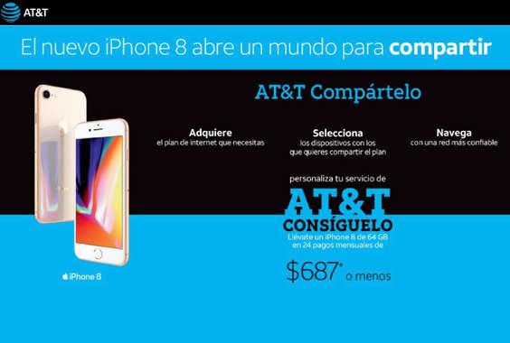 Ofertas de AT&T, El nuevo iPhone 8 abre un mundo para compartir