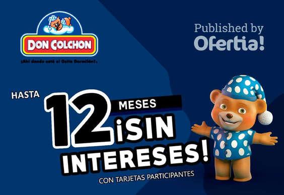 Ofertas de Don Colchón, Meses sin intereses