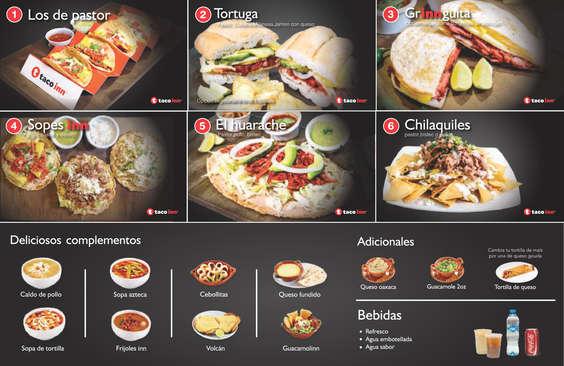 Ofertas de Taco Inn, Menú