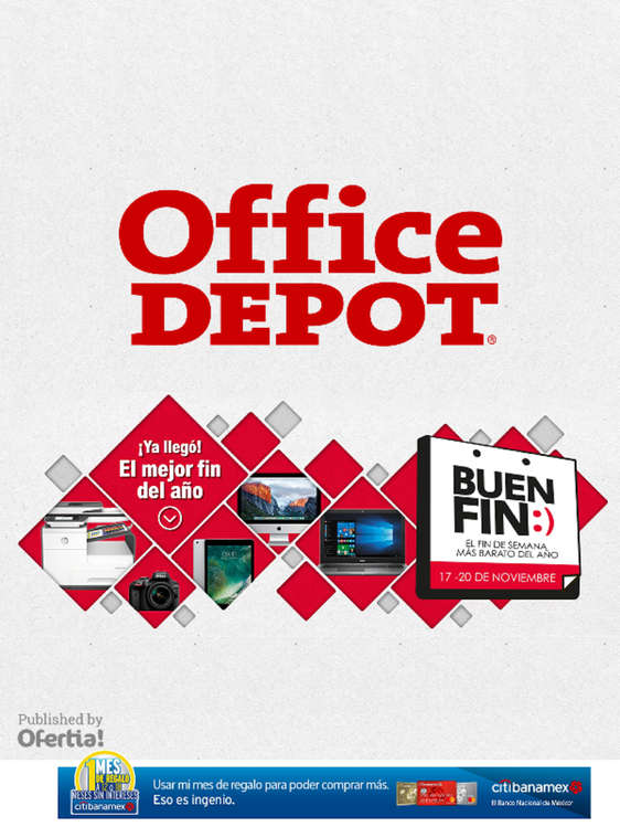 Ofertas de Office Depot, ¡Ya llegó! el mejor fin del año
