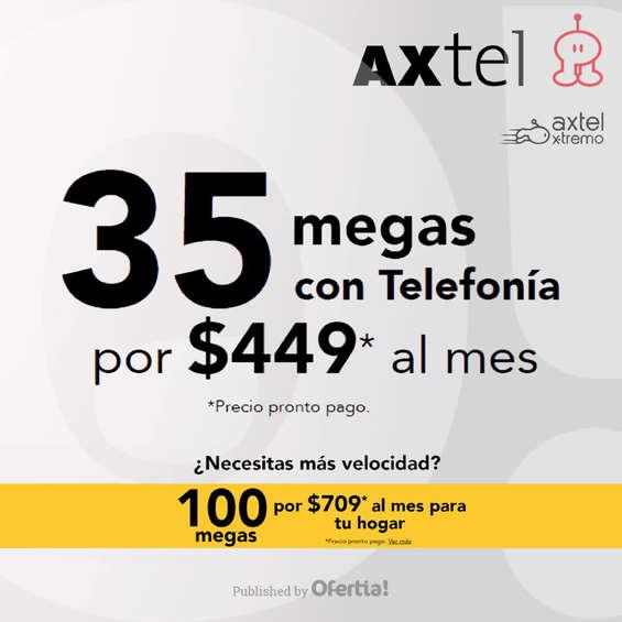 Ofertas de Axtel, 35 Megas con telefonía por $449