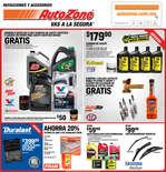 Ofertas de AutoZone, Refacciones y Accesorios - Enero
