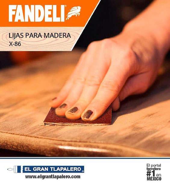 Ofertas de El Gran Tlapalero, Lijas para madera
