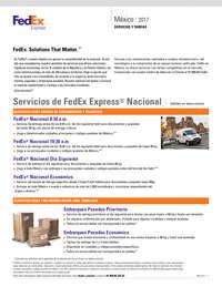 Servicios y tarifas 2017