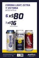 Ofertas de Modelorama, Corona Light, Extra y Victoria