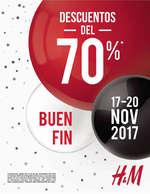 Ofertas de H&M, Descuentos del 70% Buen Fin