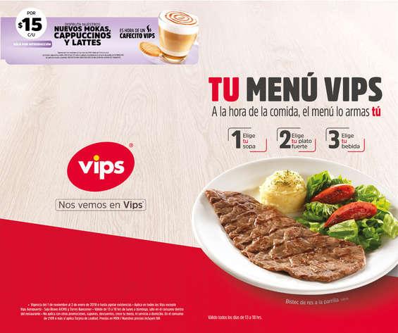 Ofertas de Vips, Tu Menú VIPS