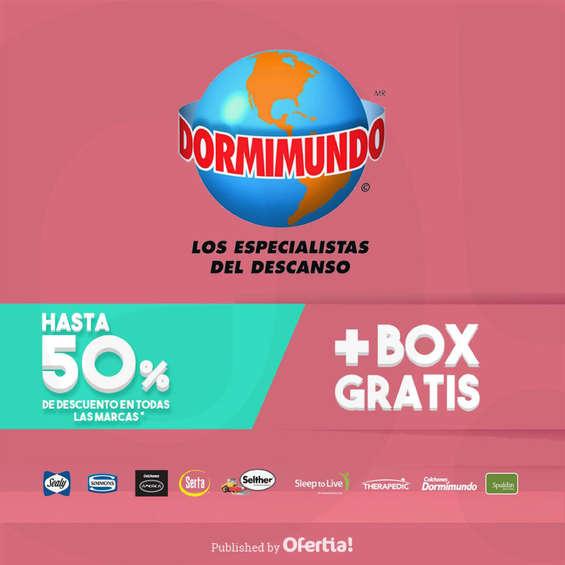 Ofertas de Dormimundo, Hasta 50% de descuento + Box Gratis
