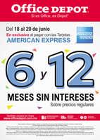 Ofertas de Office Depot, En exclusiva al pagar con las tarjetas american express