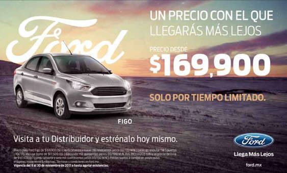 Ofertas de Ford, Un precio con el que llegarás más lejos
