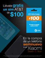 Ofertas de Mobo, Llévate gratis un sim AT&T