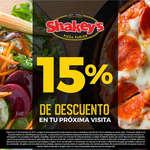 Ofertas de Shakey's Pizza, 15% de descuento