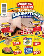 Ofertas de S-Mart, Viernes, sábado y domingo abarrotero- Díptico RB y Periférico